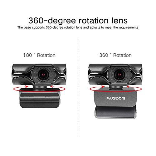 AUSDOM USB Computer Webcam, AW620 High Definition 1080P