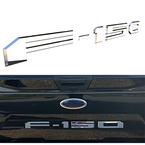 Tailgate Insert Letters for Ford F150 2018-2019 - 3M Adhesive & 3D Raised Tailgate Decal Letters - Chrome Silver