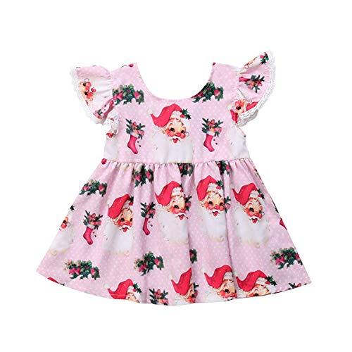 INHoney Christmas Dress for Baby Girls Santa Baby Toddler Dress (2-3 Years, Santa -