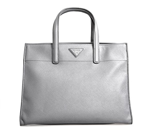 Prada-Womens-BN2603-Grey-Saffiano-Leather-Shoulder-Bag