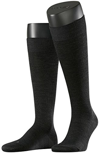 Anthracite Energizing Wool Knee High Socks by Falke - Large