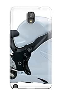 Premium OTlHSmL5790bpEwa Case With Scratch-resistant/ 7845 Suzuki Hayabusa White New Motorcycles Case Cover For Galaxy Note 3