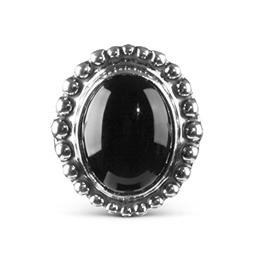 Sterling Silver Black Agate Interchangeable Magnetic Insert