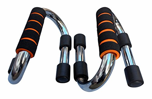 Maximiza Push up Bars Strong Chrome Steel Pushup Stands with Comfortable Foam Grip and Non slip Bars in choice of 2 sizes Safe, Sturdy and Less Wrist Strain