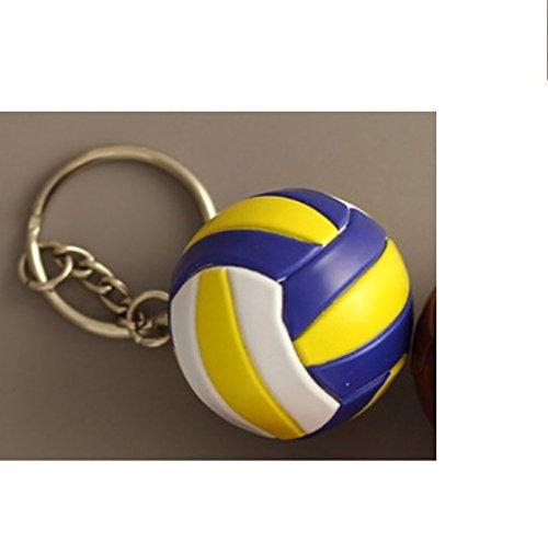 Voleibol llavero pelota Blanco Amarillo Azul 4 cm: Amazon.es ...