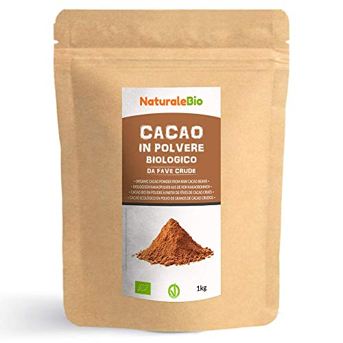 Biologisch Cacaopoeder 1 Kg. 100% Bio, Natuurlijk en Zuiver. Geproduceerd in Peru van de Boom Theobroma Cacao. Bron van…