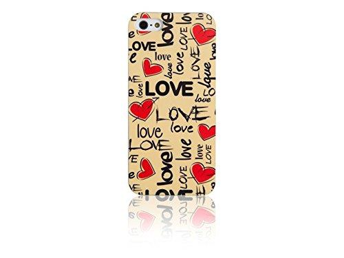 Spada coque iMD 008851 smartphone de protection d'écran pour iPhone 5/5S motif love/blanc