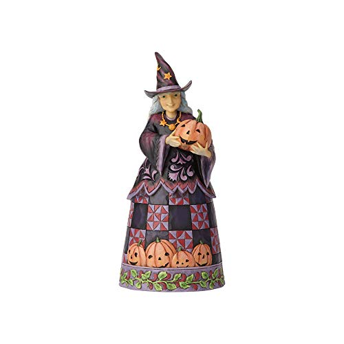 Enesco Jim Shore Heartwood Creek Halloween Witch with Pumpkin