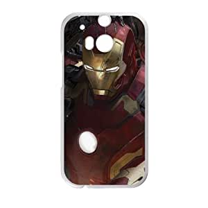 HTC One M8 Cell Phone Case White Iron Man vs Ultron Swarm FY1459565