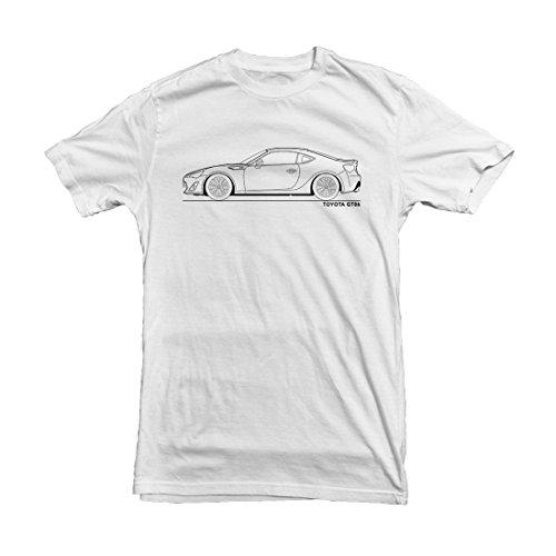 Price comparison product image Toyota GT86 Men's Car T-Shirt,  Size: 3XL White [Apparel]