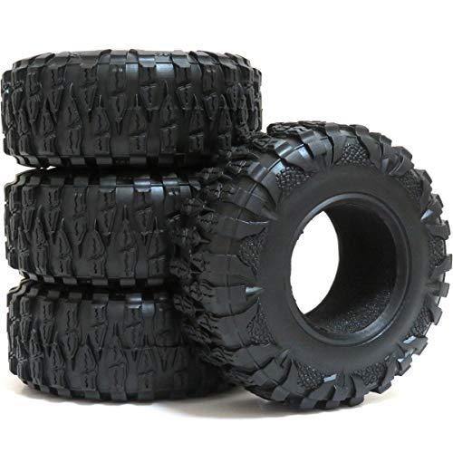 - hobbysoul 4pcs RC 2.2 Crawler Mud Terrain Tires Tyres Height 120mm Fit for 2.2'' beadlock Wheel Rims