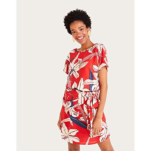 Vestido Kimono C/faixa-Estampado-36