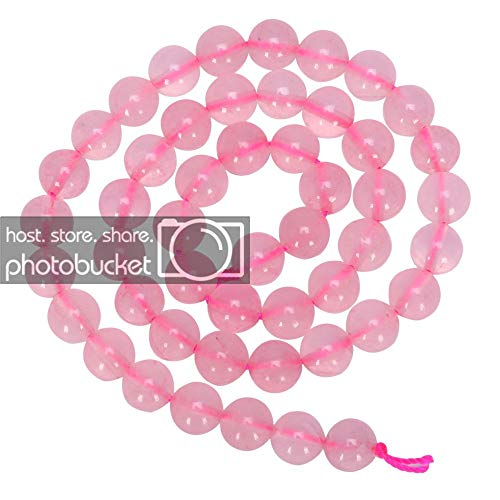 (Top Quality Natural Rose Quartz Gemstone 6mm Round Loose Beads 15.5