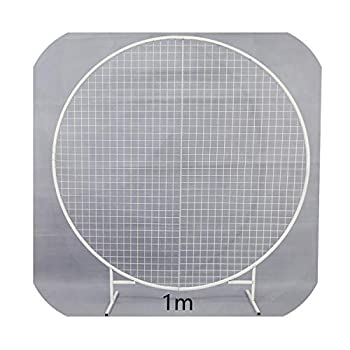 Image of Daydreaming-shop Round Arch Wedding Decoration Net Support Arch Screen Screen Layout, 1 M White Home and Kitchen