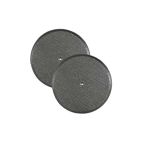 2 PACK Air Filter Factory 10-1/2 Round x 3/32 With Center Hole Range Hood Aluminum Grease Filters AFF10.5-R ()