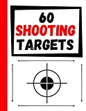 60 Shooting Targets: Large Paper Perfect for Rifles / Firearms / BB /