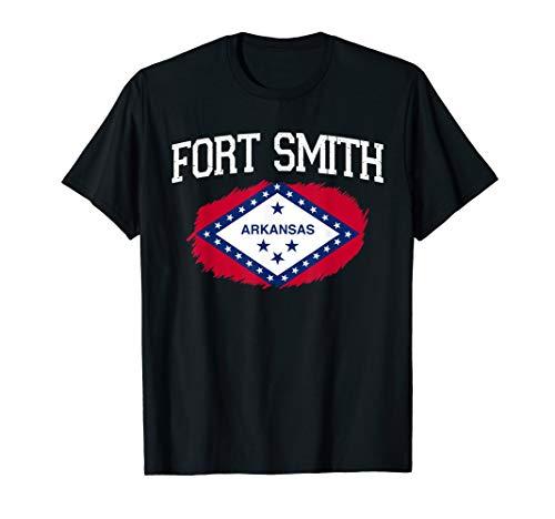 FORT SMITH AR ARKANSAS Flag Vintage USA Sports Men Women T-Shirt (Smith In Fort Ar Shopping)