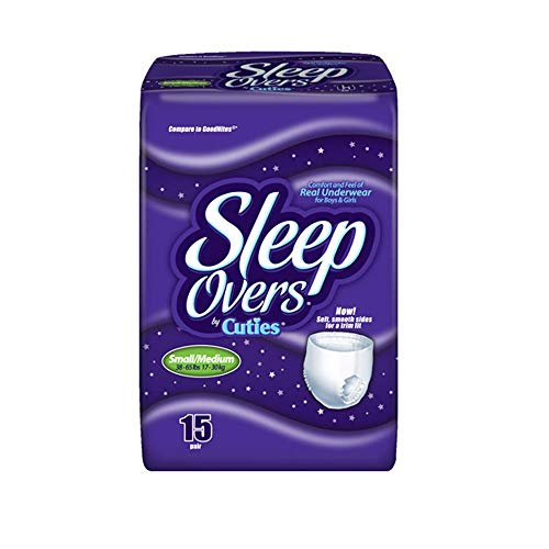 Sleep Overs® Youth Pants-Size Small / Medium Weight 45 - 65 lb - Pack of 15