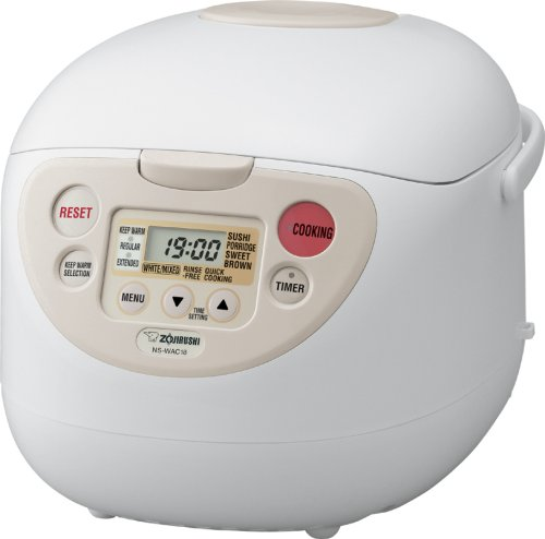 Zojirushi NS-WAC10 Micom Fuzzy-Logic 5-1/2-Cup (Uncooked) Rice Cooker and Warmer, 1.0-Liter