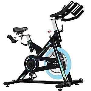 41%2BiHoKrghL. SS300 Allenamento Spin Bike Professionale Cyclette Aerobico Home Trainer, Bici Da Fitness, Monitor Lcd, Bracciolo Multiposizione, Volano in Alluminio 16 Kg, Sistema Di Resistenza Al Magnetron