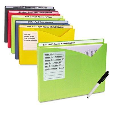 Write-On Expanding Poly File Folders, 1