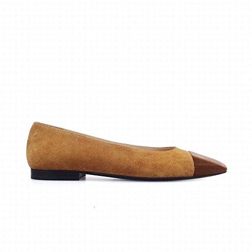 Punta Boca de la Zapatos los la Color de Primavera de Zapatos Moda High combina UN heels la de Planos Que Planos la 38 Baja nfq67tqxIv