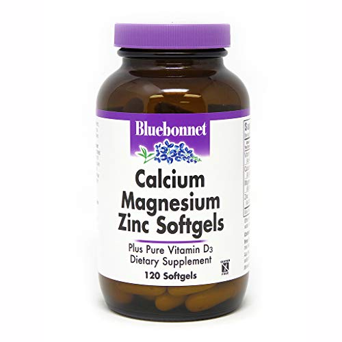 BlueBonnet Calcium Magnesium Zinc Softgels, 120 Count