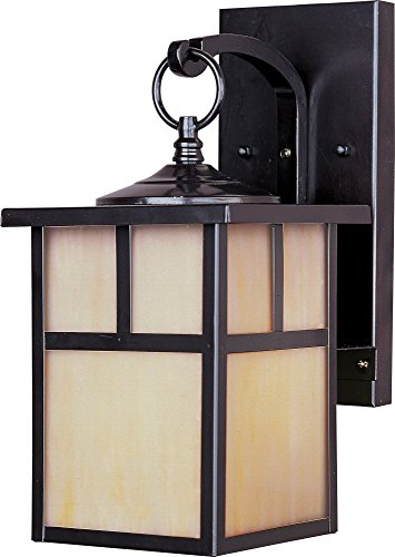Maxim 4053HOBU Coldwater 1-Light Outdoor Wall Lantern, Burnished Finish, Honey Glass, MB Incandescent Incandescent Bulb , 100W Max., Dry Safety Rating, Standard Dimmable, Glass Shade Material, 5750 Rated Lumens (Finish Verde Acid)