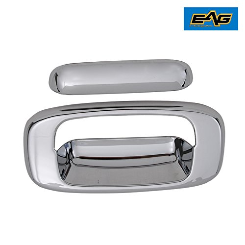 EAG 99-06 Chevy Silverado 1500 / GMC Sierra 1500/01-06 Silverado 2500/3500 / Sierra 2500/3500 Triple Chrome Plated ABS Tailgate (Chrome Plated Tailgate Handle)