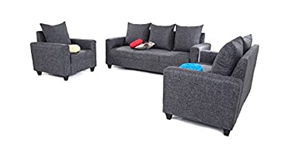 Awesome Space Interior India Aleena 3 1 1 Sofa Set Grey Amazon In Cjindustries Chair Design For Home Cjindustriesco