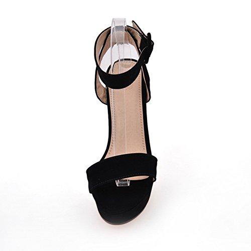 Adee - Sandalias de vestir para mujer, color negro, talla 37 1/3