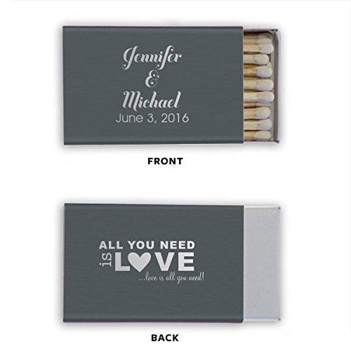 Personalized Wedding Matchbooks, Shower Match, Favor, Matches, Custom Printed Matchbook 59