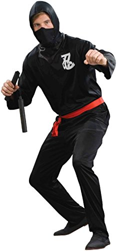 Black And White Two-face Costume (Forum Novelties Men's Ninja Costume, Black, Standard)