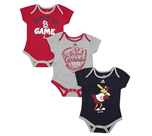 - Outerstuff St. Louis Cardinals Small Fan Baby/Infant 3 Piece Creeper Set 18 Months