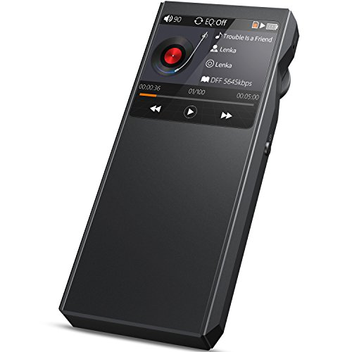 HiFi MP3 Player, Bluetooth Lossless Music Player -Bassplay P2000 DAP Portable Digital Audio Player with Card Slot, Metal, Expandable to 128GB Storage (No Internal Storage No Card)