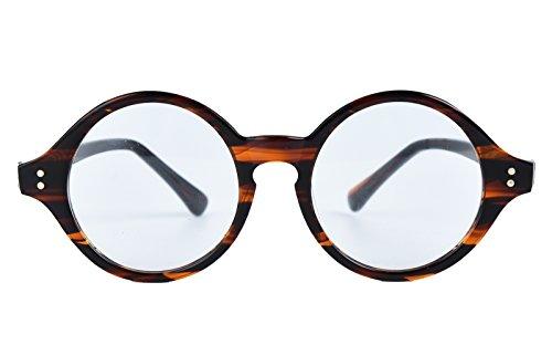 Agstum Handmade Retro Round Optical Eyeglasses Frame - For Retro Eyeglasses Men
