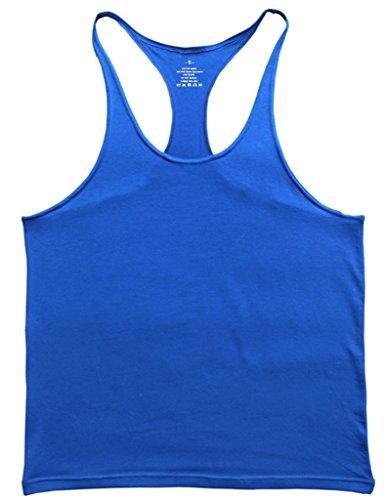 Stretto 1 Musclealive Cm Palestra Canottiera Cinturino Stringer Da Uomo Blu Cotone SYUBYxwqz