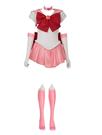 8b8e3d898 Amazon.com  Cosfun Best Sailor Chibiusa Chibi Moon Cosplay Costume  mp000272  Clothing