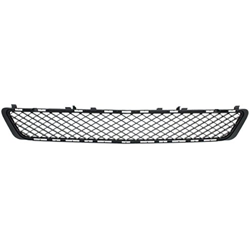 Amg Package - New Front Side Bumper Cover Grille For 2010-2013 Mercedes Benz E550, 2010-2013 E350, Without Amg Package, Matte-Black, Made Of Plastic MB1036131 2128850523