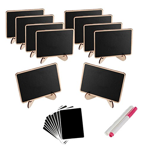 Fityle 10x Small Blacknoard Message Memo Note Board with Pens for Restaurant Buffet Coffee Shop - Shop Boards Memo