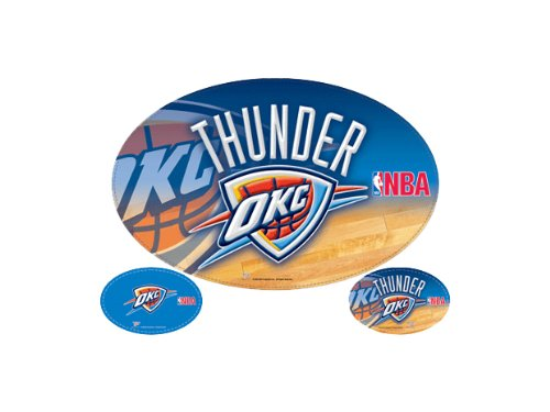 Oklahoma City Thunder Official NBA 11''x17'' Car Magnet 3-Pack Set by WinCraft