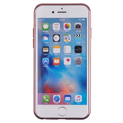 Voguecase® für Apple iPhone 6/6S 4.7 (4,7 zoll) hülle, Schutzhülle / Case / Cover / Hülle / TPU Gel Skin (Pink Grenze/Garten/Regenschirm) + Gratis Universal Eingabestift