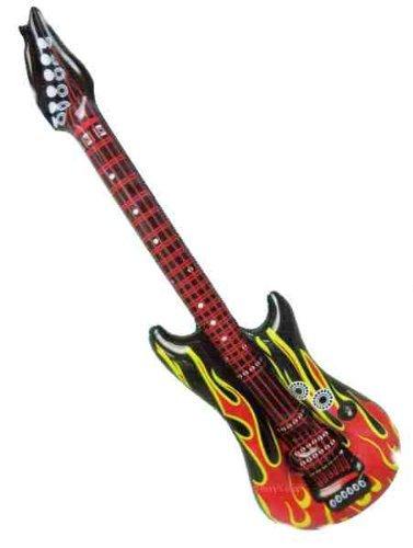 Paul Import aufblasbare Gitarre / Luftgitarre  ca. 100 cm Flammendesign 714