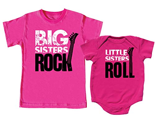 (Big Sister Outfit, Big Sister Rock, Little Sister Roll, Includes Size 4 & 3-6)