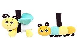 Babee Talk Eco-buds Take-Along Pals - Bee & Caterpillar Set