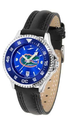 SunTime Florida Gators Competitor Ladies AnoChrome Watch with Leather Band and Colored Bezel