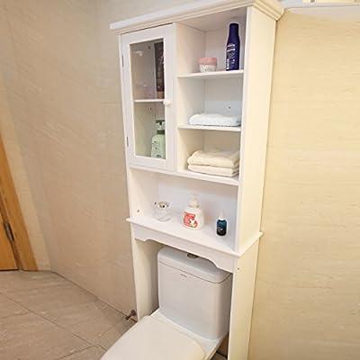 DecentHome Bathroom Storage Space Saver, Espresso