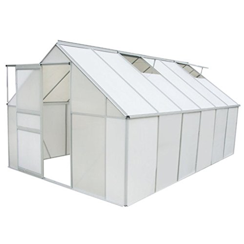 vidaXL Gewächshaus 9,25 m² mit 4 mm Stegplatten
