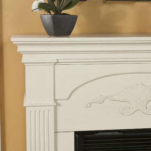 Southern Enterprises Sicilian Harvest Ivory Electric Fireplace