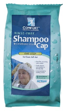 Comfort Bath Rinse-Free Shampoo and Conditioner Cap (Pack of 2)